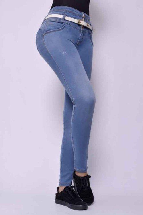 Jeans-colombianos-Jeans-para-dama-al-por-mayor-Petrolizadojeans-Jeans-REF-P02 588 - azul