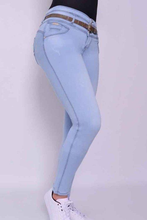 Jeans-colombianos-Jeans-para-dama-al-por-mayor-Petrolizadojeans-Jeans-REF-P02 605 - azul CLARO