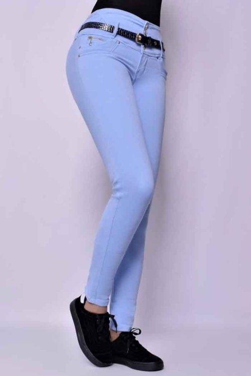 Jeans-colombianos-Jeans-para-dama-al-por-mayor-Petrolizadojeans-Jeans-REF-P02 613 - Azul clarit