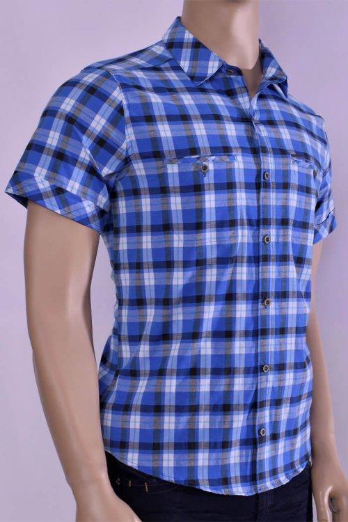 camisa-colombianas-camisa-para-hombre-camisa-al-por-mayor-petrolizado-jeans-ref-P05-66-color-azul